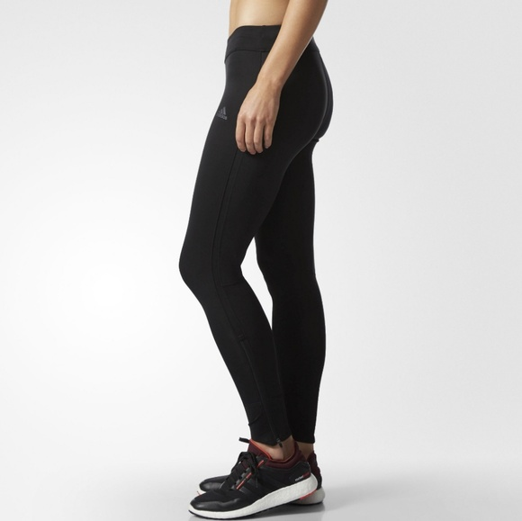 f4543af18f49e adidas Pants | Response Running Tights Leggings Black | Poshmark